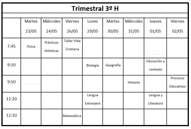 Trimestral 3h